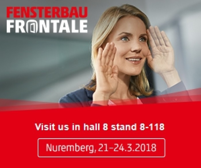 Join us at the FENSTERBAU FRONTALE trade show in Germany