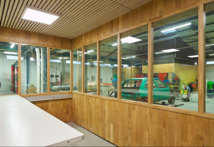 Renovation of the high school Camille du Gast: a benchmark project for CLT oak panels
